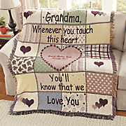 Rustic Touch Personalized Throw