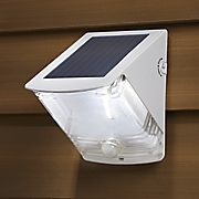 solar powered and motion activated wedge light