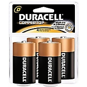 duracell 4 pack of d batteries