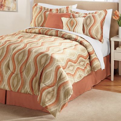 Antonella Complete Bed Set, Accent Pillows and Window Treatments