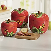 3 pc  apple canister set 2