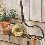 Metal Garden Rake Wall Rack