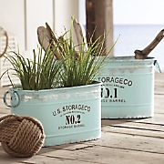 set of 2 aqua tubs 117