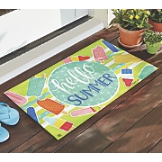 hello summer mat   18  x 30