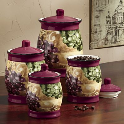 Grape Vineyard Canister Set