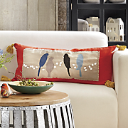 Appliquéd Patch Bird Pillow