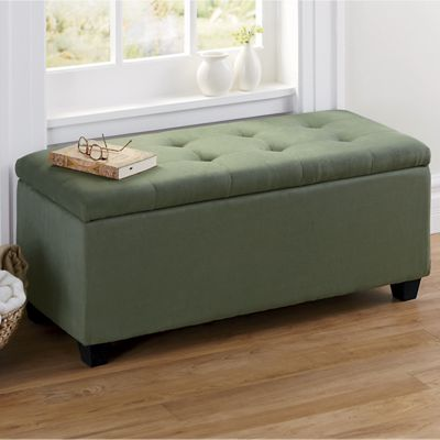 Plush storage ottoman from country door n9760790 for Plush living room furniture