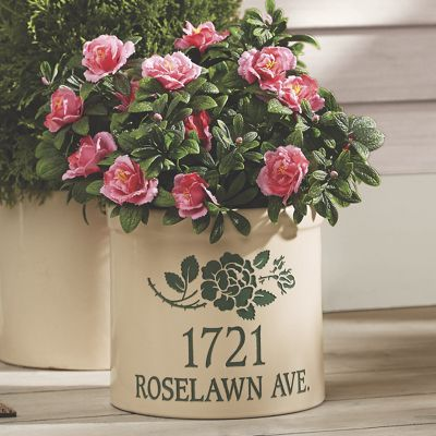 Personalized Rose Crock