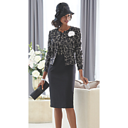 jack mcconnell sequin band hat and joyce jacket dress