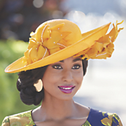 jack mcconnell floral couture hat
