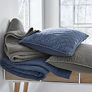 Vintage Wash Solid Oversized Quilt and Sham