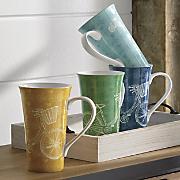set of 4  take a ride  latte mugs