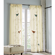 Embroidered Birds Panel Pair