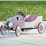 Ride-On Pink Retro Pedal Car
