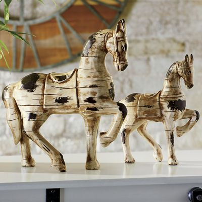 Set of 2 Horse Statues