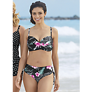Bandeau Bikini Top and Shirred-Tie Swim Bottom