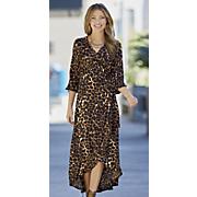 Wild-Side Cheetah Wrap Dress