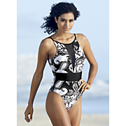 paisley mesh one piece