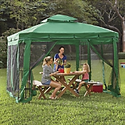 Green Steel Gazebo