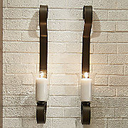 set of 2 curl wall sconces 24