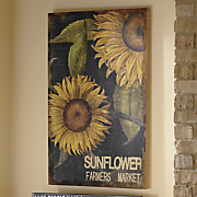sunflower wall art nk