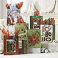 Set of 6 Medium Traditional Christmas Bags