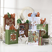 Set of 6 Traditional Christmas Gift Bags