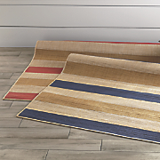 multistripe indoor outdoor rug