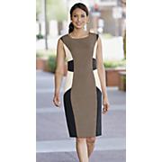 All-Natural Colorblock Sheath Dress