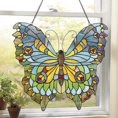 Stained Glass Butterfly Wall Hanging