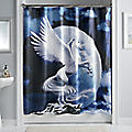 Winged Unicorn Shower Curtain