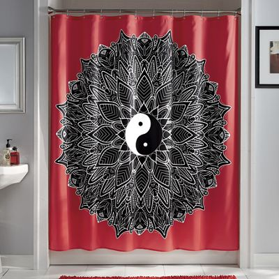 Yin-Yang Shower Curtain
