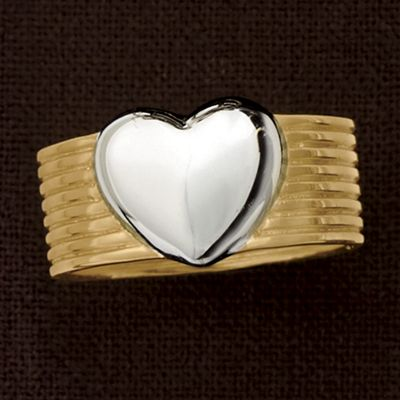 Two-Tone Heart Band