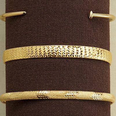 10K Gold Wide Bangle