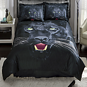 savage panther comforter set and shower curtain 36