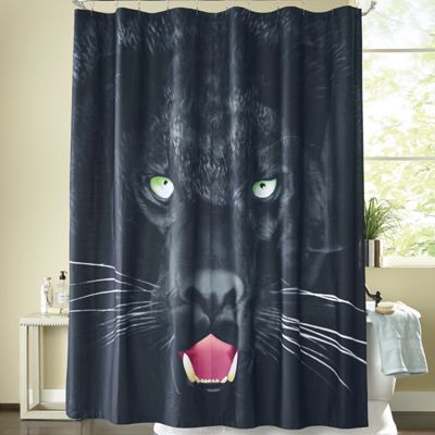 Savage Panther Shower Curtain