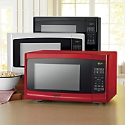 countertop essential 1 1 cu  ft  colored microwave oven by montgomery ward