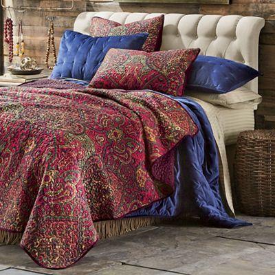 Crimson Oversized Quilt and Sham