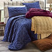 Velvet Oversized Quilt and Sham