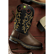 Men's John Deere Pull-On Western Work Boot by Dan Post