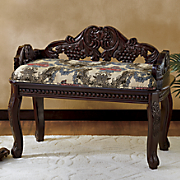 Royal Carved Bench