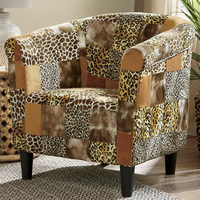 Animal Patch Bucket Chair