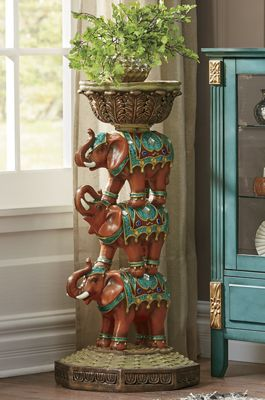 Stacked Elephant Plant Stand