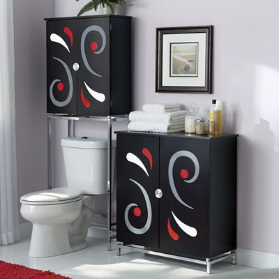 Swirl Space Saver and Cabinet