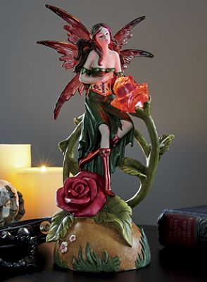 Fairy with Rose LED