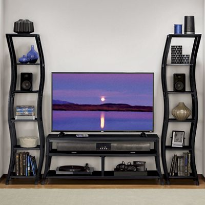 Wave TV Stand and Bookcase