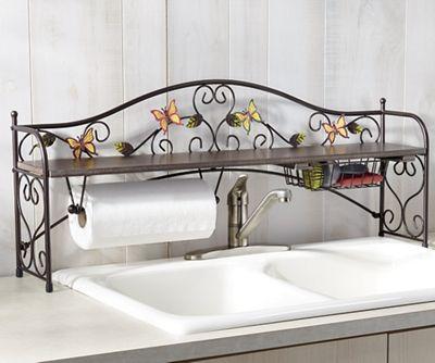 Harvest Butterfly Sink Shelf