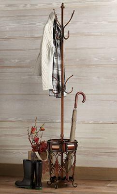 Acanthus Coat Rack with Umbrella Stand