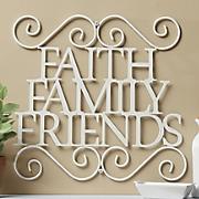 Faith Family Friends Wall Sign