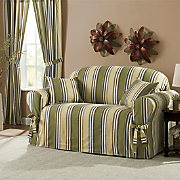 Classic Stripe Slipcovers, Decorative Pillow and Panel Pair